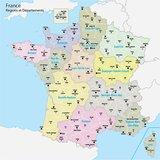 Frankrijk, régio's en departementen_