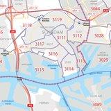 Rotterdam, postcodekaart (4-cijferig)_