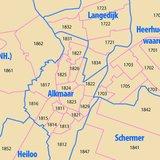Digitale postcodekaart Noord-Holland (4-cijferig)_