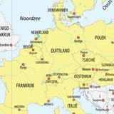 kaart van het Schengengebied_