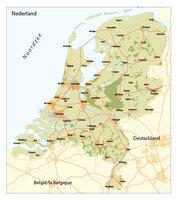overzichtskaart Nederland