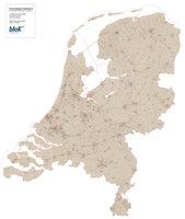 Digitale postcodekaart Nederland (4-cijferig)