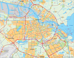 Amsterdam, postcodekaart (4-cijferig)