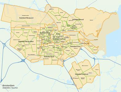 Amsterdam, stadsdelen en buurten
