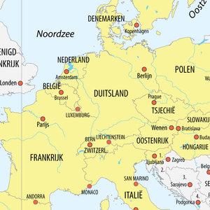 kaart van het Schengengebied
